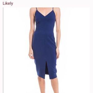 Likely Brooklyn Dress size 0 blue